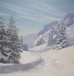 Backdrop 580 Snow Scene &Amp; Trees 12'X15'