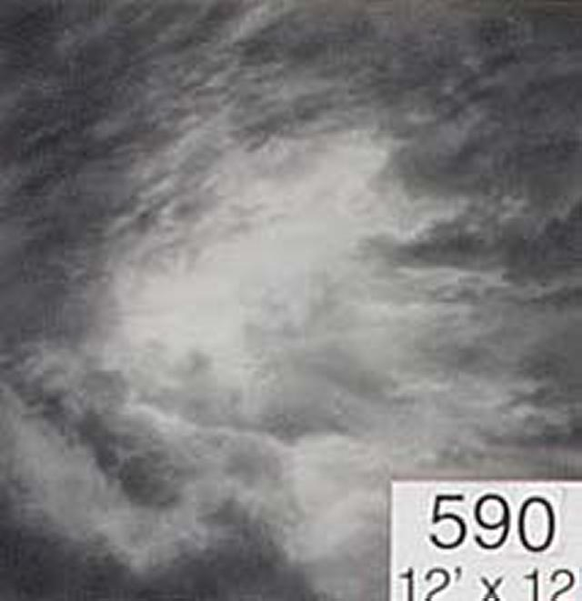Backdrop 590 Monochrome Dramatic Cloudy Sky 12'X12'