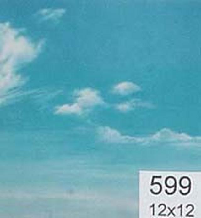 Backdrop 599 Bright Blue Sky With Wispy Clouds 12'X12'