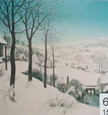 Backdrop 611 Snow Country Scene Breugel Style 15'X15'