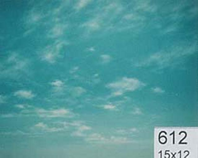 Backdrop 612 Sunny Blue Sky With Wispy Clouds 15'X12'