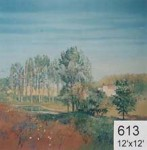 Backdrop 613 French Countryside Impressionist Style 12'X12'