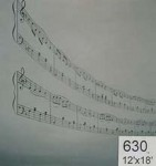 Backdrop 630 Musical Notes Abstract 12'X18'