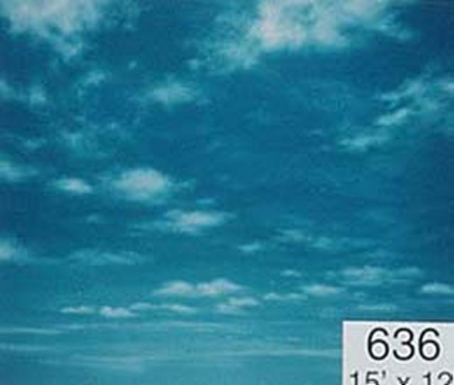 Backdrop 636 Sunny Blue Sky With Clouds 15'X12'