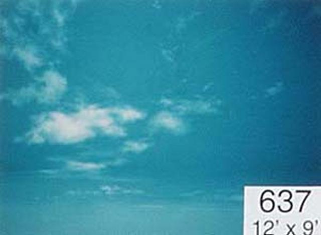 Backdrop 637 Blue Sky With Wispy Clouds 12'X9'