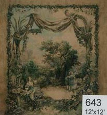 Backdrop 643 Classical Tapestry On Hessian 12'X12'