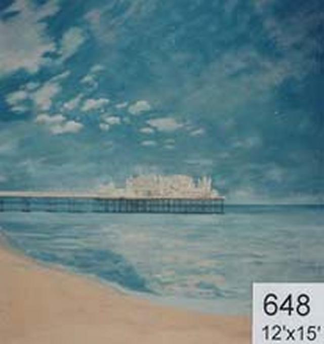 Backdrop 648 Brighton Pier Impressionist Style 12'X15'