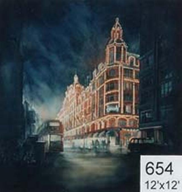 Backdrop 654 Knightbridge View Harrods Night 12'X12'