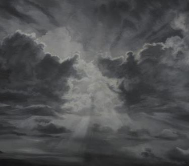 Backdrop 664 Monochrome Dramatic Cloudy Sky 25'X14'