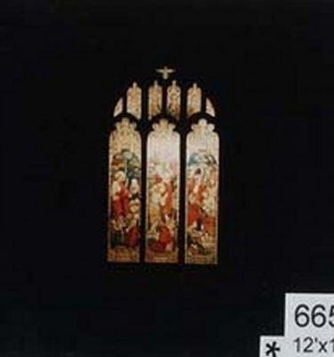 Backdrop 665 Church Stained Glass Window 12'X18'