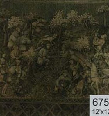 Backdrop 675 Medieval Tapestry On Hessian 12'X12