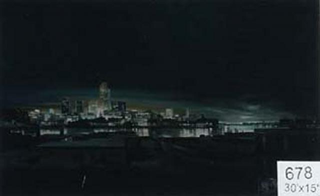 Backdrop 678 Night City River View 25'X15'