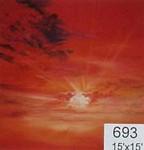Backdrop 693 Red Sunrise Sunset 15'X15'