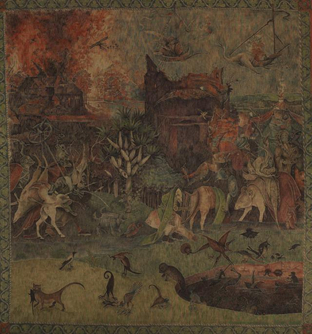 Backdrop 699 Tapestry On Hessian Bosch Style 12'X12'