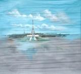 Backdrop 740 Eiffel Tower Day Scene 7'X7'