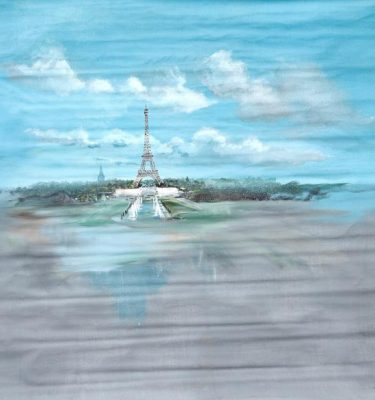 Backdrop 740 Eiffel Tower Day Scene 7'X7'