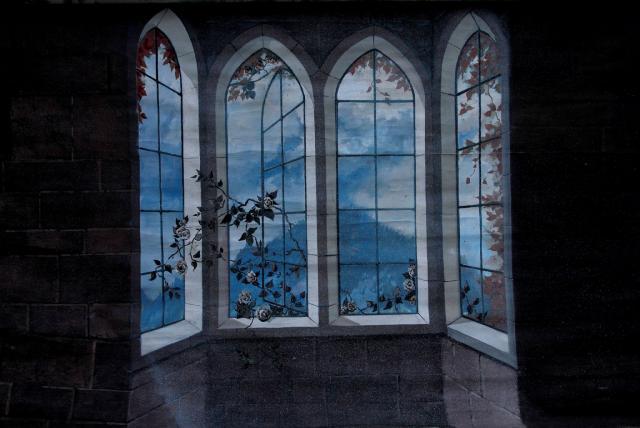 Backdrop 741 Old Window Wall 6'X7'
