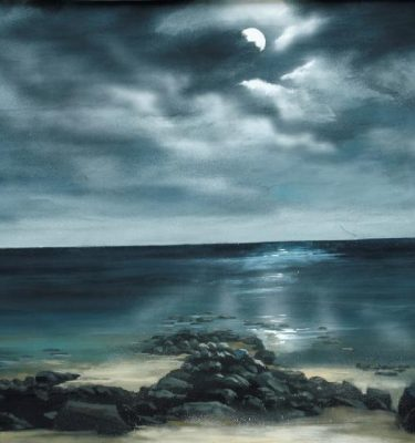 Backdrop 744 Moonlit Seascape 8'X8'
