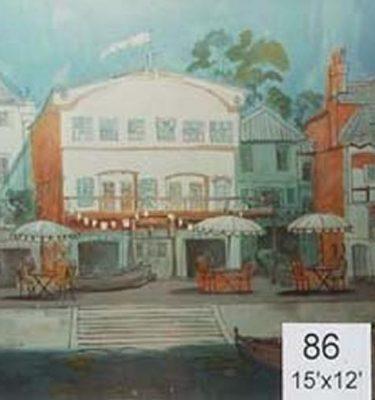 Backdrop 86 Beach Promenade Cafe 15'X12'