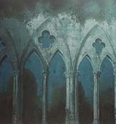Backdrop 89 Gothic Ruin Church Arches 21'X12'