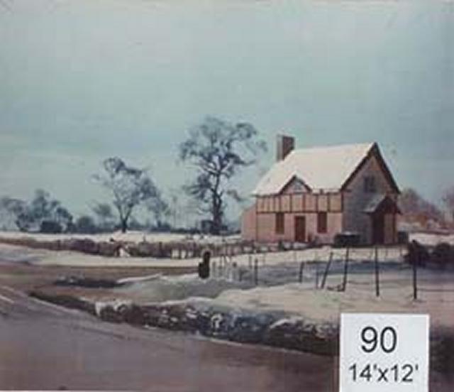 Backdrop 90 Rural Snow &Amp; Farm House 14'X12'