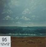 Backdrop 95 Sand, Sea & Sky Boats On Horizon 12'X12'
