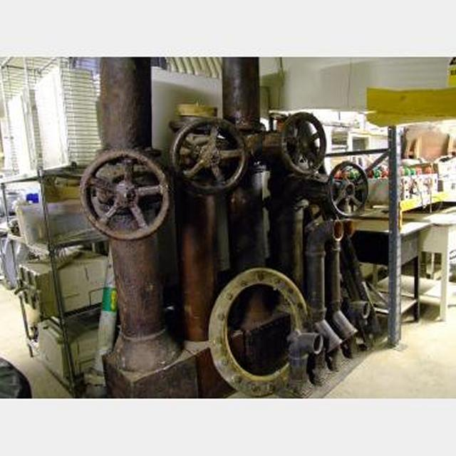 Assorted Vertical Pipes With Wheels Many More Available See Piping And Ducting
