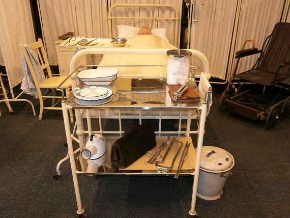 Hospital props from Mr Selfridge