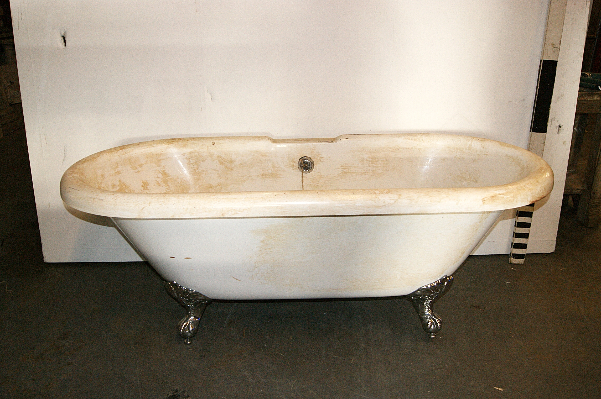 0280061 Freestanding Victorian Fibreglass Bath / Roll Top ( H 63cm x ...