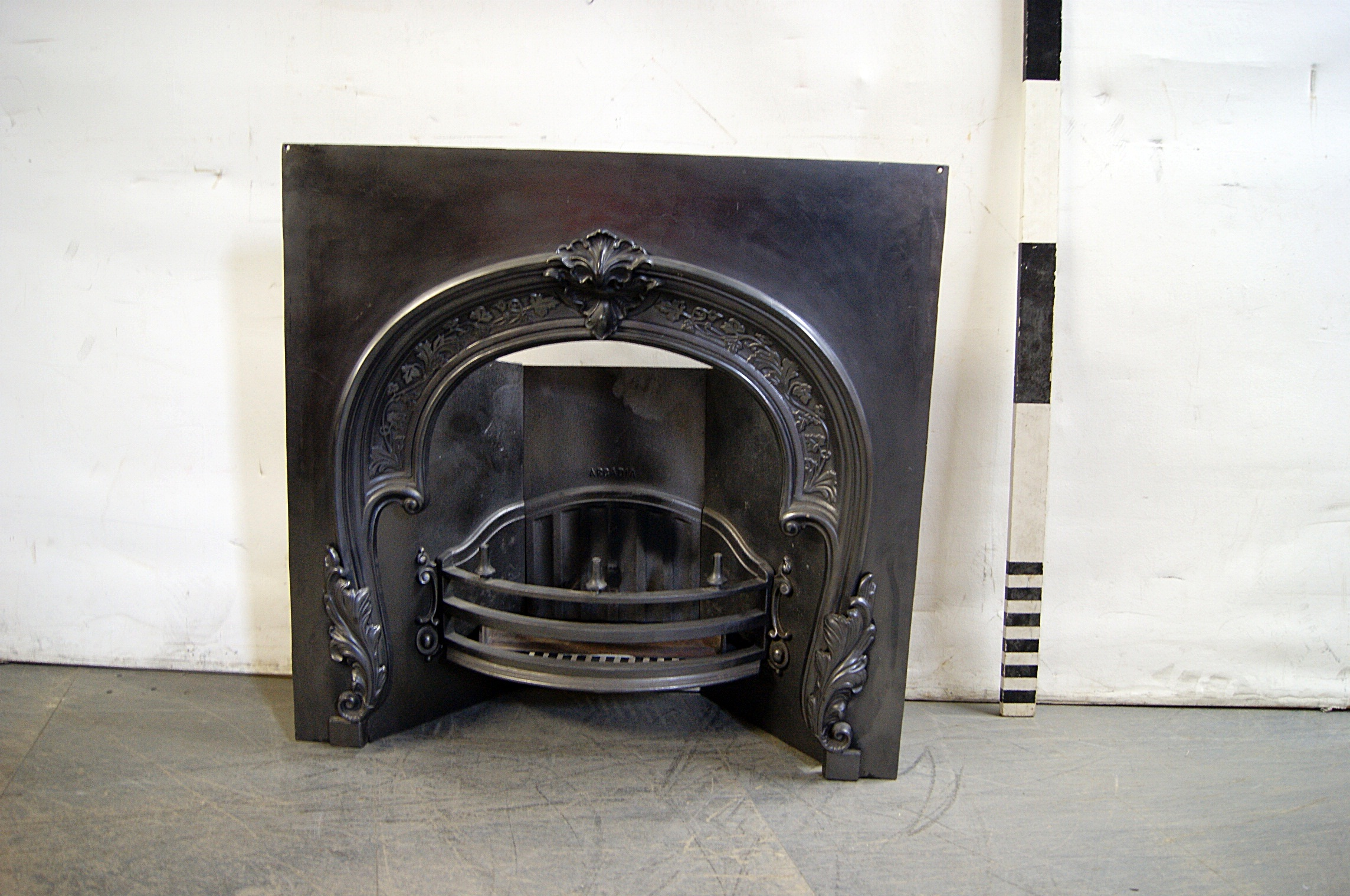 screens grate fenders screen vintage fireplace ironbronze iron collection cast used and chairish antique