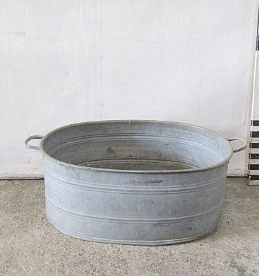 0280112 Galvanized Tin Bath ( H 31 Cm X 82 X 52 ) X 1 Off